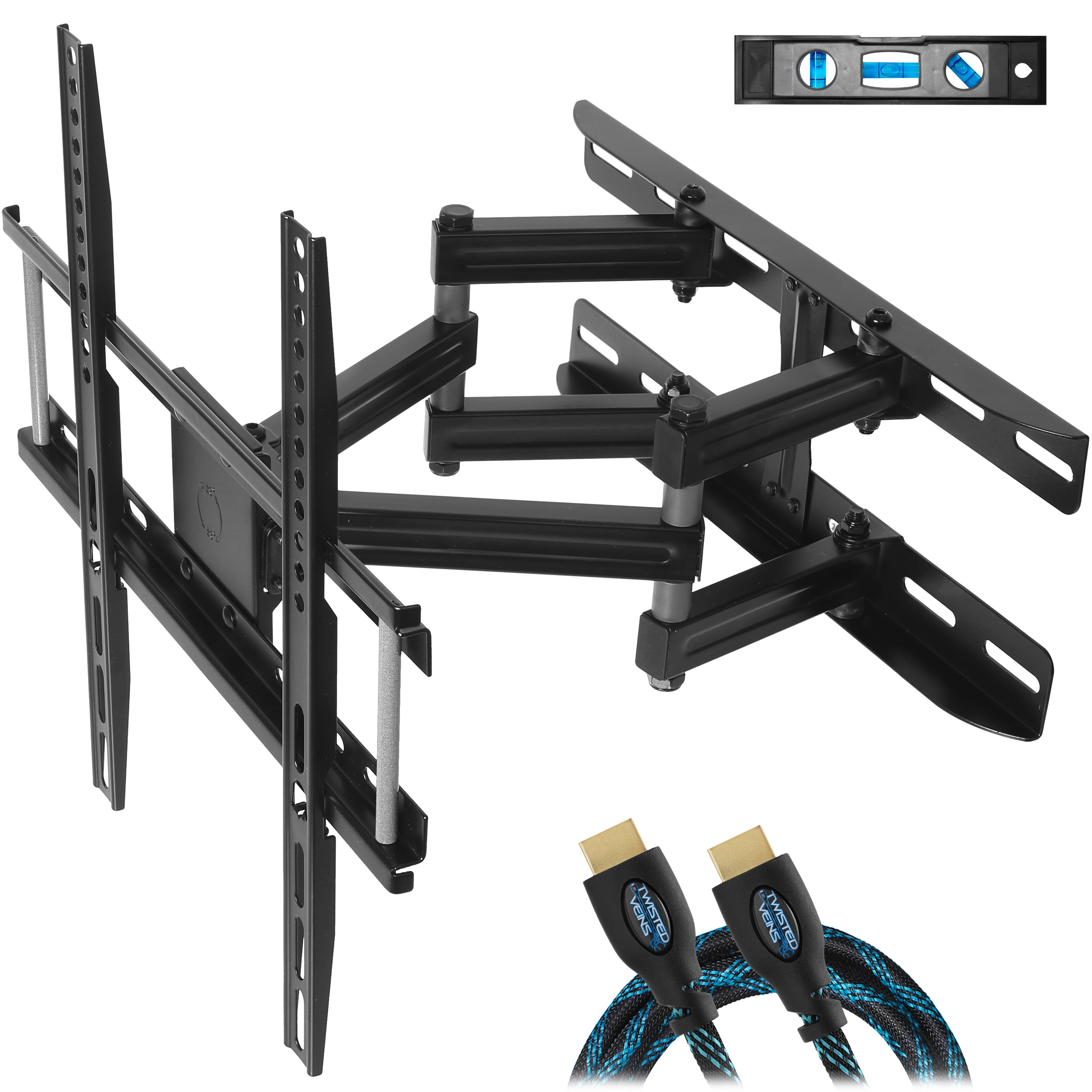 cheetah mounts dual articulating arm tv wall mount bracket for 20 65 tvs up