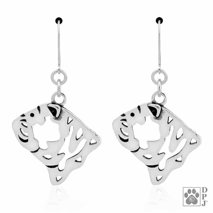 Bulldog breed jewelry, Bulldog earrings, Bulldog dangle