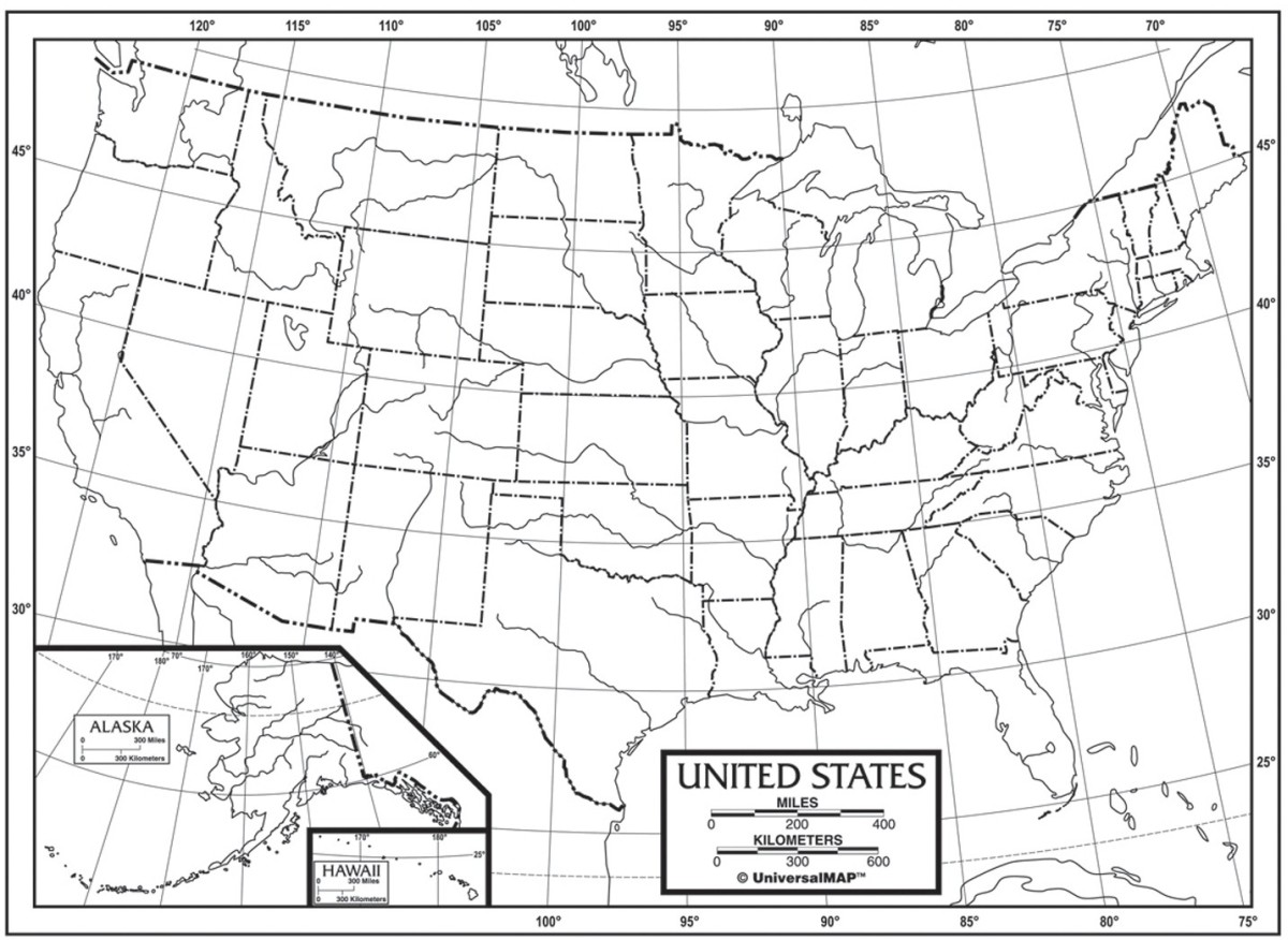 Us Outline Maps Paper UNI21218 Kappa Map Group / Universal