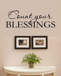Count your BLESSINGS Vinyl Wall Art Decal Sticker