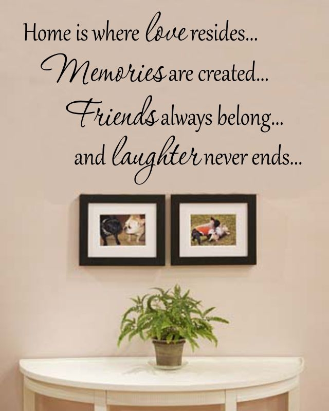 Home Is Where Love Resides : where, resides, Where, Resides..., Memories, Created..., Friends, Always, Belong..., Laughter, Never, Ends..., Vinyl, Decal, Sticker