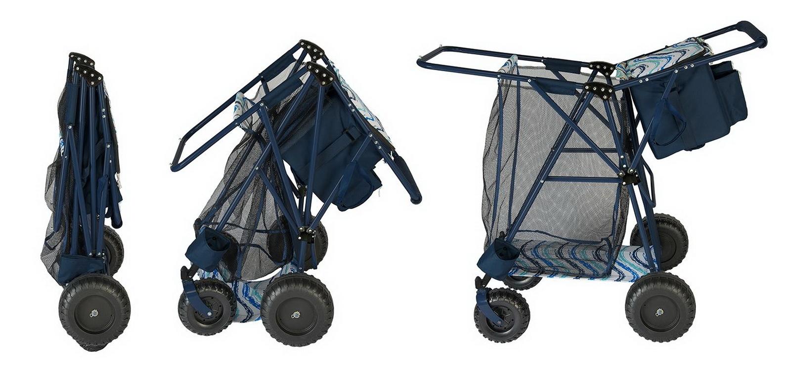 Big Folding Beach Cart  Portable Cooler Shopping Gear