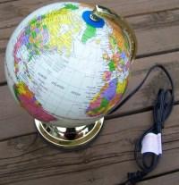World Globe Touch Lamp