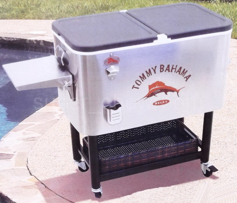 Huge Rolling 130 Can Party Cooler 100 Quart Stainless