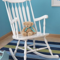 White Indoor Rocking Chair Grey High Back Dining New Large Wooden Nursery Rocker