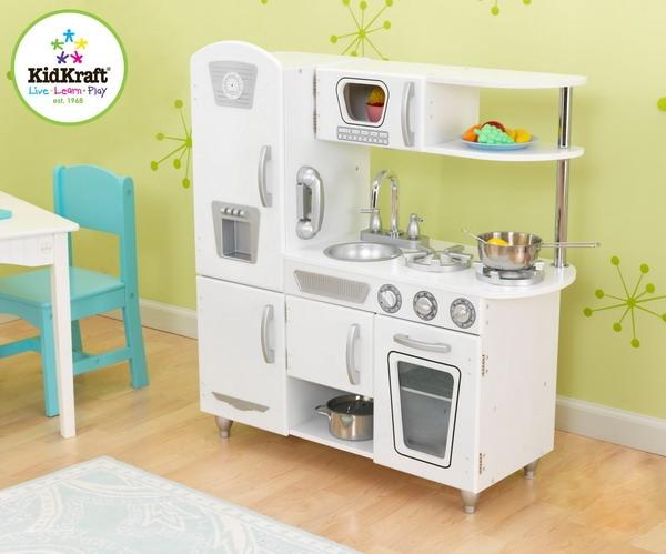 KidKraft Girls Vintage White Retro Kitchen Kids Pretend