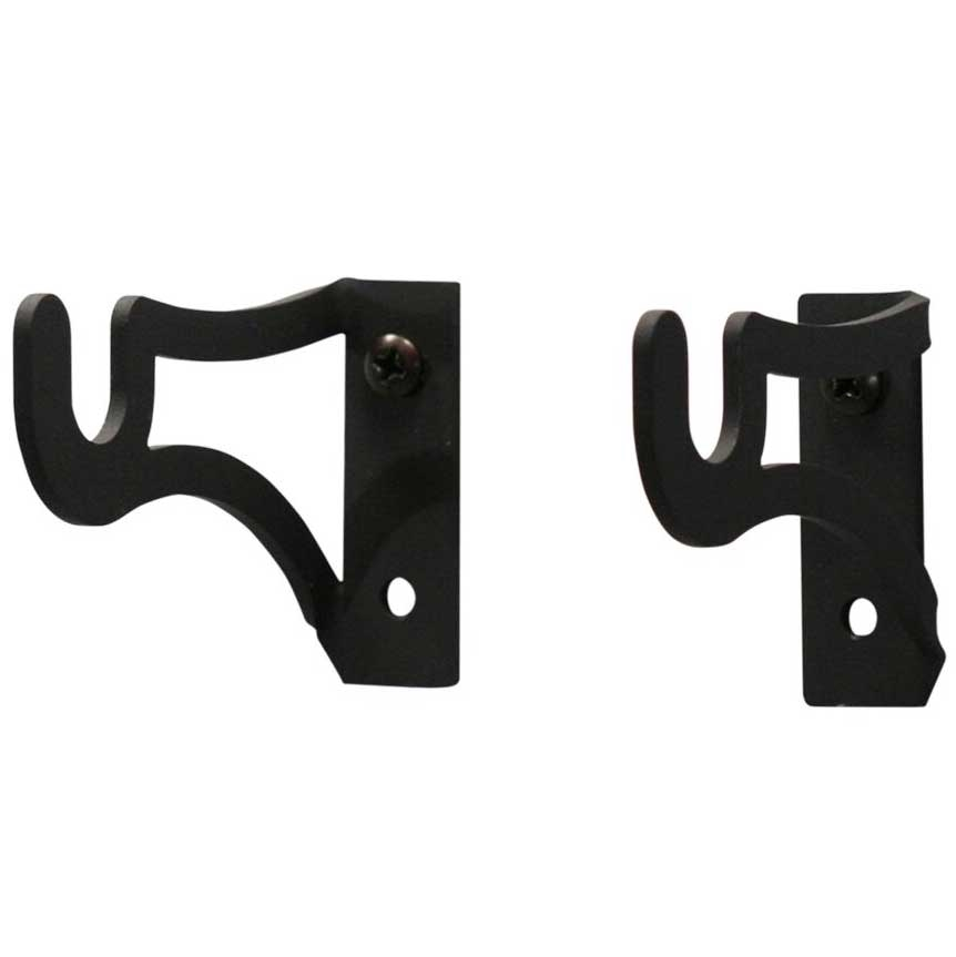 large curtain rod bracket set fits 1 2 in rods