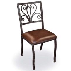 Wrought Iron Dining Chairs Oak Ladder Back Room Pictured Is Our Alexander Side Chair With Leather Upholstered Seat