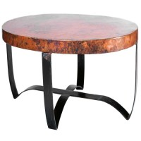 Round Hammered Copper Coffee Table | Bindu Bhatia Astrology