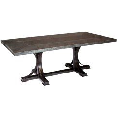 Zinc Kitchen Table How Much Does A Remodeled Cost Winston 72 X 44 Dining With Rectangle Top