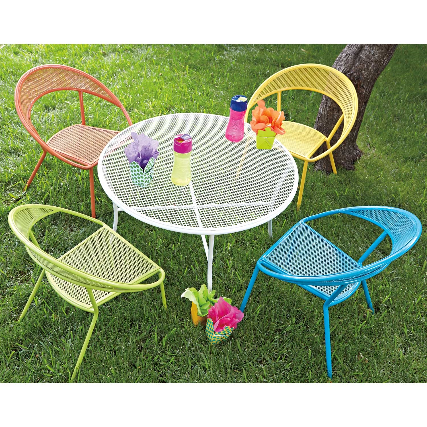 Kids Outside Chairs Kids Outdoor Dining Set Round Table And 4 Chairs