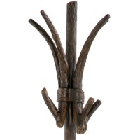 Wrought Iron Rustic Pine Coat Rack w/ Umbrella Stand