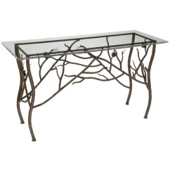 Pine Sofa Tables Modern Sectional Vancouver Bc Rustic Console Table 10 43 Iron Finish And Top Options