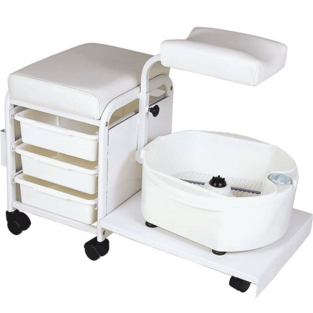 encore portable deluxe pedicure spa technician stool with bowl h