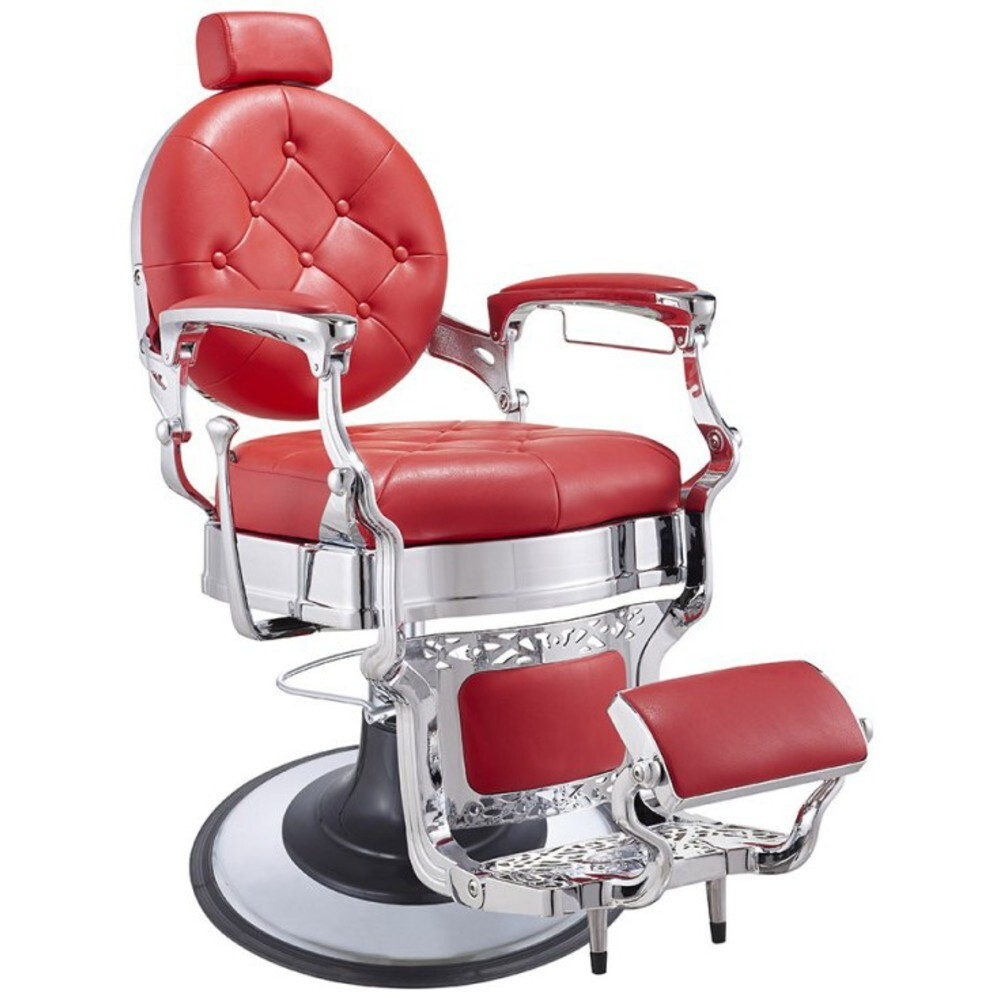 Red Barber Chair Dir Barber Chair Vanquish Chrome Finish 2111