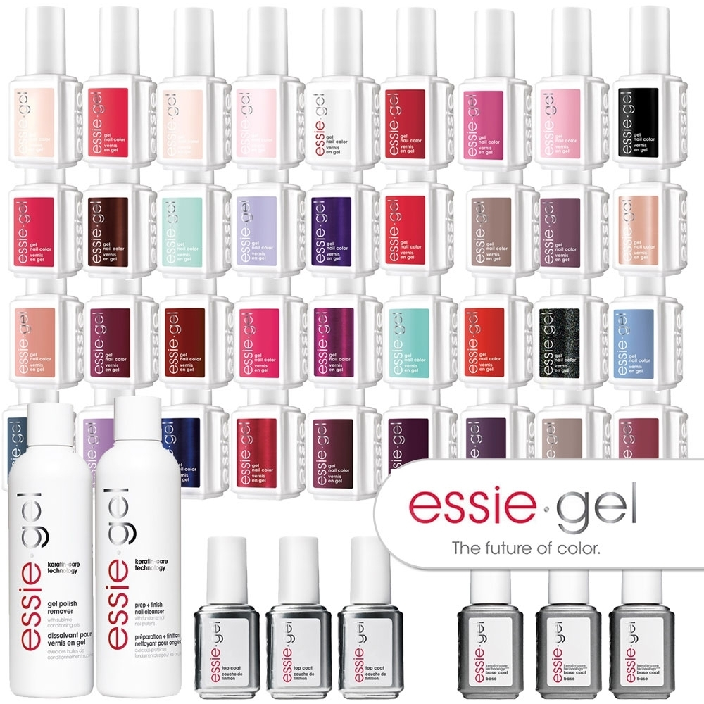 also essie gel color mega bundle led cured polish system rh purespadirect