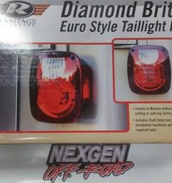 rampage diamond brite tail light conversion kit 76 06 jeep cj 7 wrangler 5307 [ 1200 x 889 Pixel ]