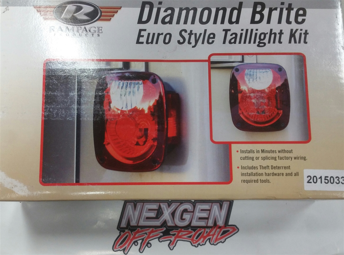 hight resolution of rampage diamond brite tail light conversion kit 76 06 jeep cj 7 wrangler 5307