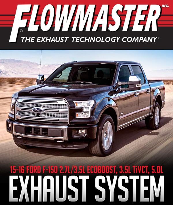 flowmaster 817725 2015 2016 ford f 150 2 7l 3 5l 5 0l 2 5 cat back dual exhaust