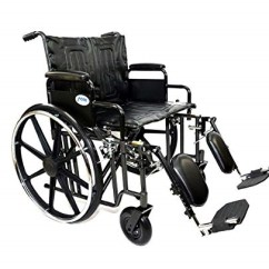 Bariatric Transport Chair 500 Lbs Sun Lounge Chairs Wheelchair 24 Seat Width With Elevating Leg Rest And Heavy Duty