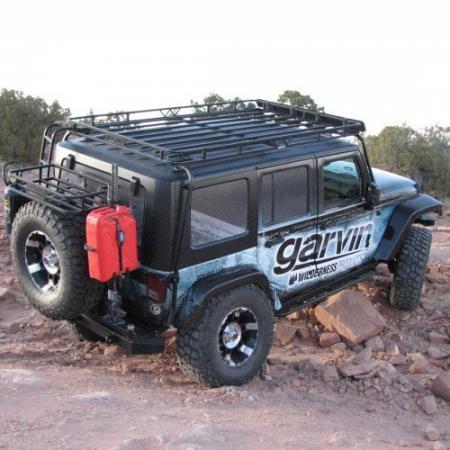 garvin industries overhead expedition rack for jk wrangler unlimited 4 door models