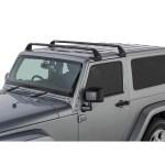 Rhino Rack Vortex Sg 2 Bar Roof Rack Black For 11 18 Jeep Wrangler Jk 2