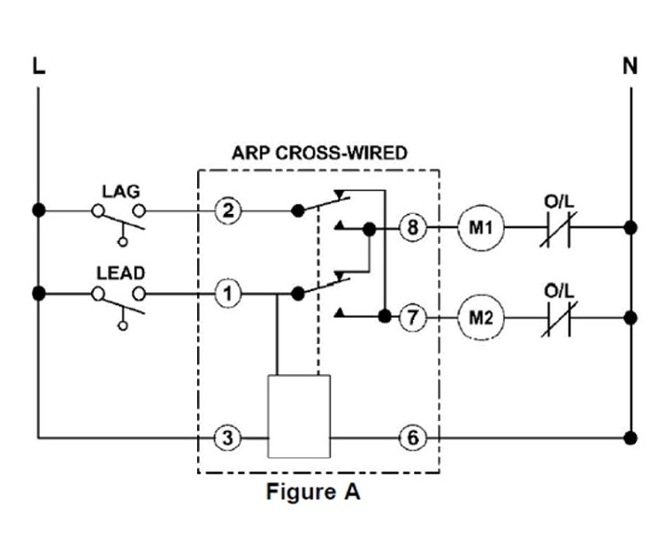 Lead Lag Pump Control Wiring Diagram Macromatic Arp120a3r Duplexor Alternating Relay