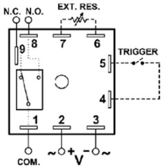 Time Delay Relay Circuit Diagram 1983 Chevrolet C10 Wiring Macromatic Thr 3836u Encapsulated Multi Function