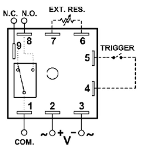time delay relay circuit diagram 3 phase 208v motor wiring macromatic thr 3836u encapsulated multi function