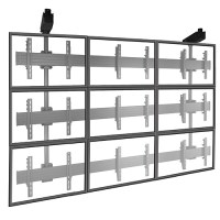 FUSION Large TV Ceiling Mount - 9 Monitor Video Wall Mount ...
