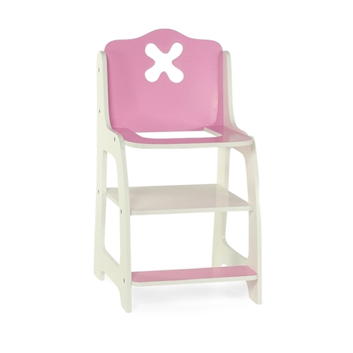 american girl high chair 16 inch outdoor cushions 18 doll furniture flower themed pink and white shop emily rose