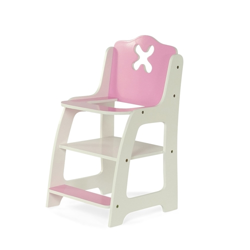 american girl high chair office heavy duty 18 inch doll furniture flower themed pink and white fits dolls