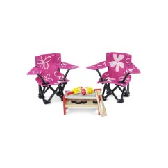 Camping Chair Accessories Merry Walker 18 Inch Doll Two Pink And White Flowered Shop Emily Rose