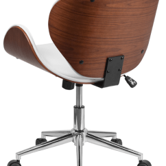 Wood Office Chair Alera Chairs Review Mid Back Walnut Swivel White Leather Our