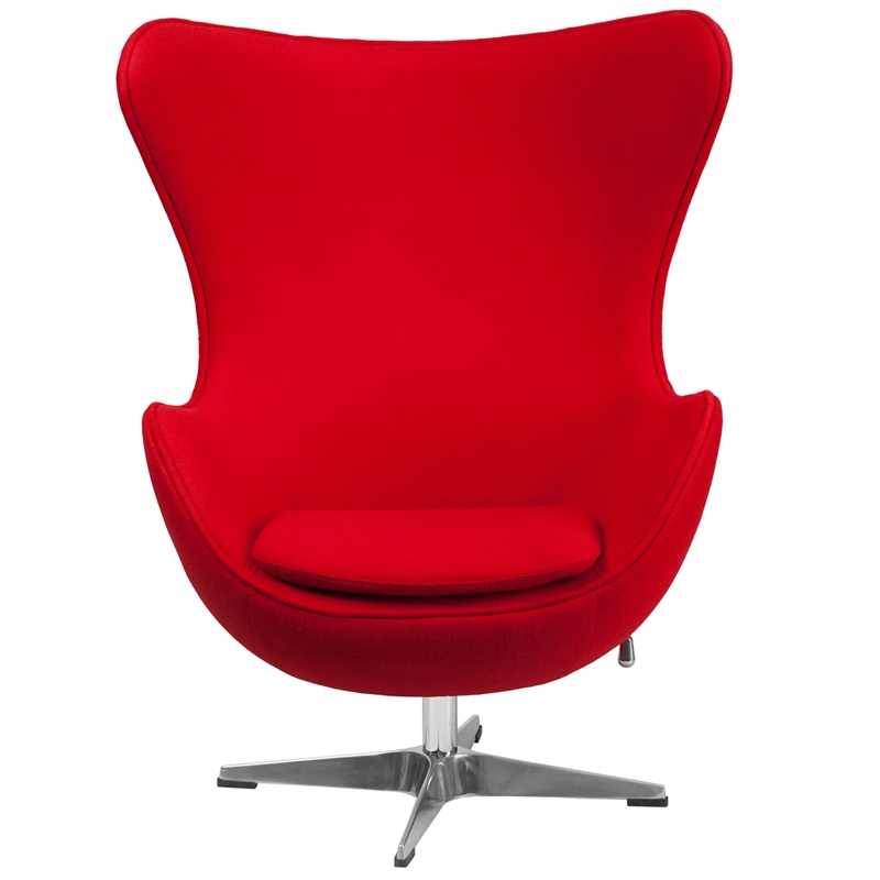 Egg Chair by Arne Jacobsen in Red  Modern reproduction