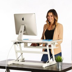 Stand Up Desk Chairs Power Wheel Chair Standing The Deskriser Height Adjustable Heavy