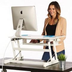 Chairs For Standing Desks Hanging Chair Gray Desk The Deskriser Height Adjustable Heavy