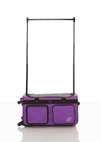 rac n roll purple expandable dance bag 4 0 with rack medium