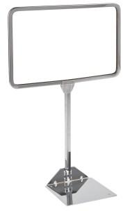 Shovel Base Metal Sign Holders, Metal Sign Holder
