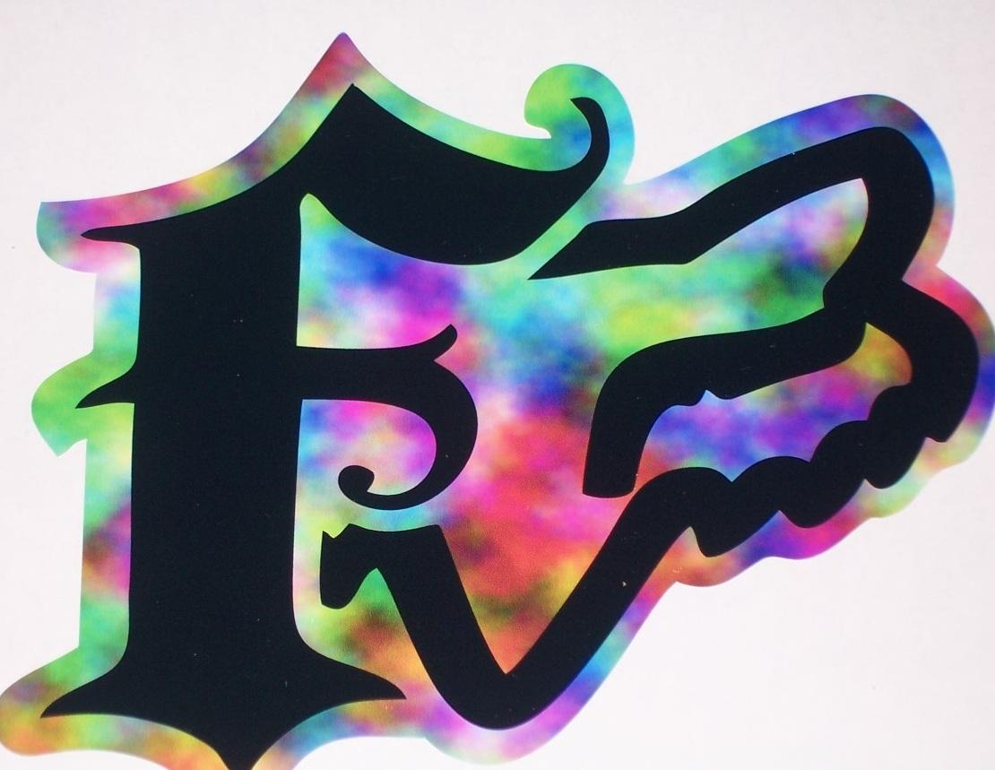 "Fox Racing Rainbow With Head 8""x9"" Window Decal Full Color"