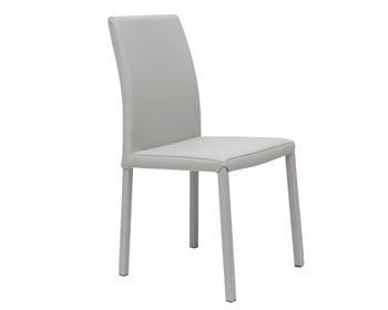 chair with light wedding covers and bows dining chairs mh2g messe modern grey blended leather backordered