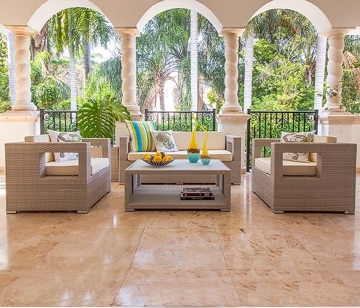 mallorca modern outdoor furniture in light grey sold out