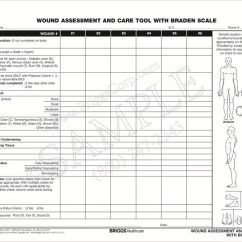 Wound Assessment Diagram Electrical House Wiring Diagrams Briggs Healthcare 3466p And Care Tool With Braden