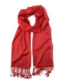 Pashmina/Silk Shawl Red