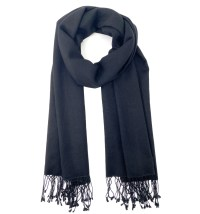 Pashmina/Silk Shawl Black