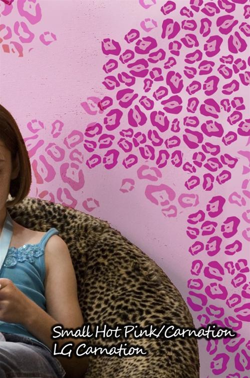 leopard print spots wall