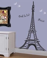 Artful Eiffel Tower wall decal sticker