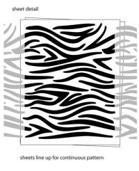 Zebra Stripe wall decals stickers
