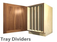 1 door base cabinet with TRAY DIVIDERS