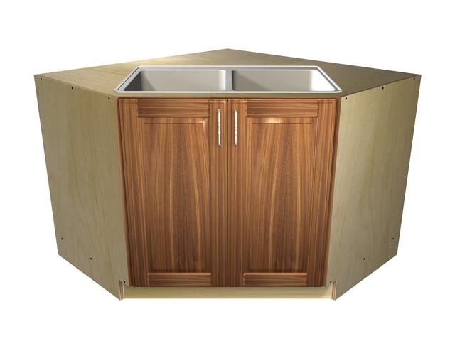 45 degree base sink cabinet